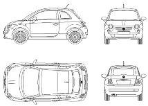 Dwg Cad Objekte: Neue Fiat 500