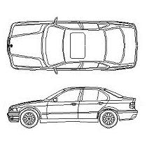 Dwg Cad Objekte: BMW 320i