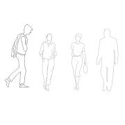 Dwg Cad Objekte: Menschen – ein Mann, eine Frau
