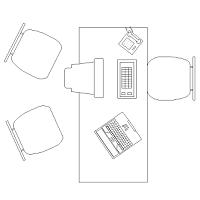Dwg Cad Objekte: Büro Schreibtisch  (2)