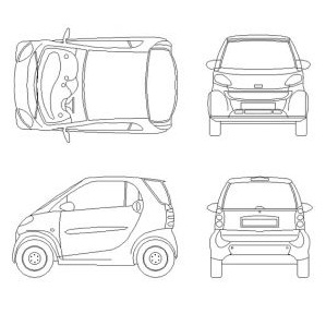 Dwg Cad Objekte: Smart car