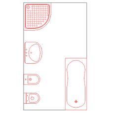 Dwg Cad Objekte: komplettes Badezimmer