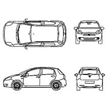 Dwg Cad Objekte: Fiat Grande Punto