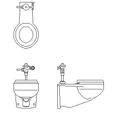 Dwg Cad Objekte: Behindertenger Badezimmer
