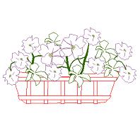 Dwg Cad Objekte: Blumentopf Ansicht