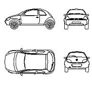 Dwg Cad Objekte: Ford Ka alt