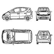 Dwg Cad Objekte: Mercedes Class A