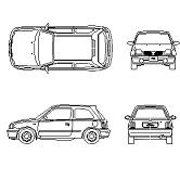 Dwg Cad Objekte: Nissan Micra