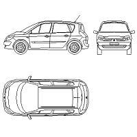 Dwg Cad Objekte: Renault Megane Scenic