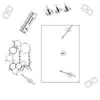 Dwg Cad Objekte: Aufnahme Zimmer mit Musikinstrumenten