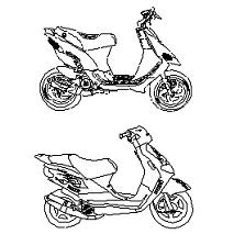 Dwg Cad Objekte: Scooters, Motorroller