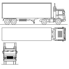 Dwg Cad Objekte: LKW, Truck