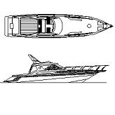 Dwg Cad Objekte: Schnellboot, Yacht