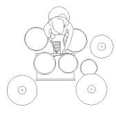 Dwg Cad Objekte: Schlagzeug & Schlagzeuger