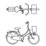 Dwg Cad Objekte: Damen Fahrrad