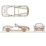 Dwg Cad Objekte: BMW Z3