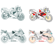 Dwg Cad Objekte: Honda CBR 1000rr