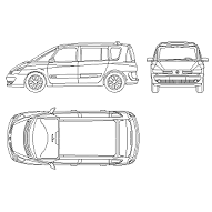 Dwg Cad Objekte: Renault Espace