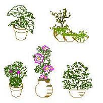 Dwg Cad Objekte: Blumentöpfe
