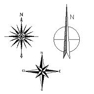 Dwg Cad Objekte: North symbols