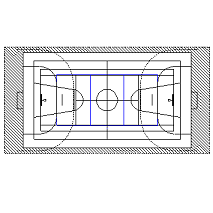 Dwg Cad Objekte: Basket, Volleyball, Sporthalle
