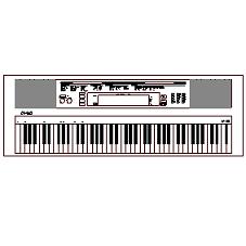 Dwg Cad Objekte: Elektronische Tastatur mit Tasten