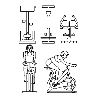 Dwg Cad Objekte: Spin Bikes, spinning bike