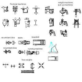 Dwg Cad Objekte: Fitnessgeräte 2